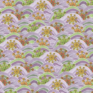 Origami Paper Pattern Free Download - Violet Wave