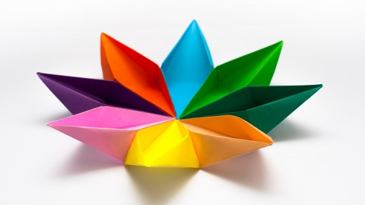 Origami Eight Point Star Candy Tray