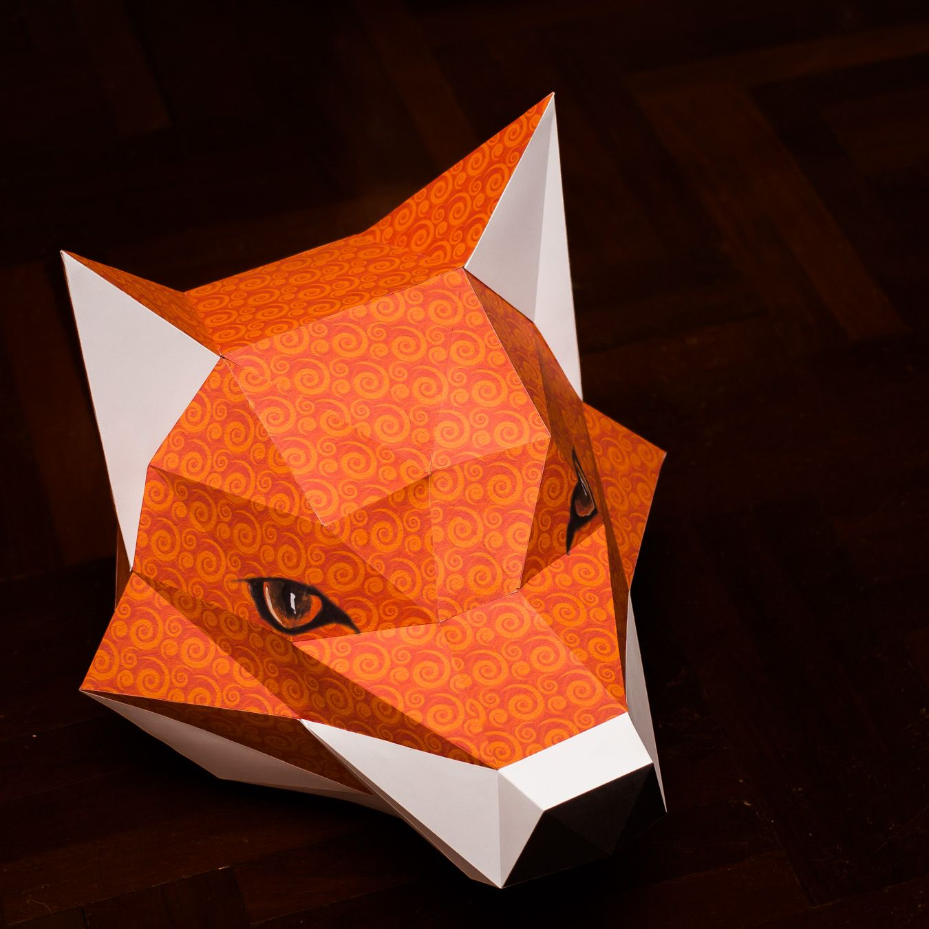 fox head mask papercraft model 3d paper model instruction 1 jeuxipadfo Image collections